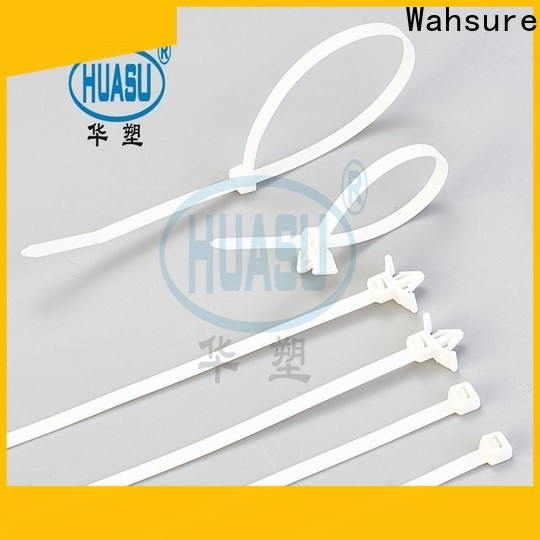 Wahsure clear cable ties company for industry
