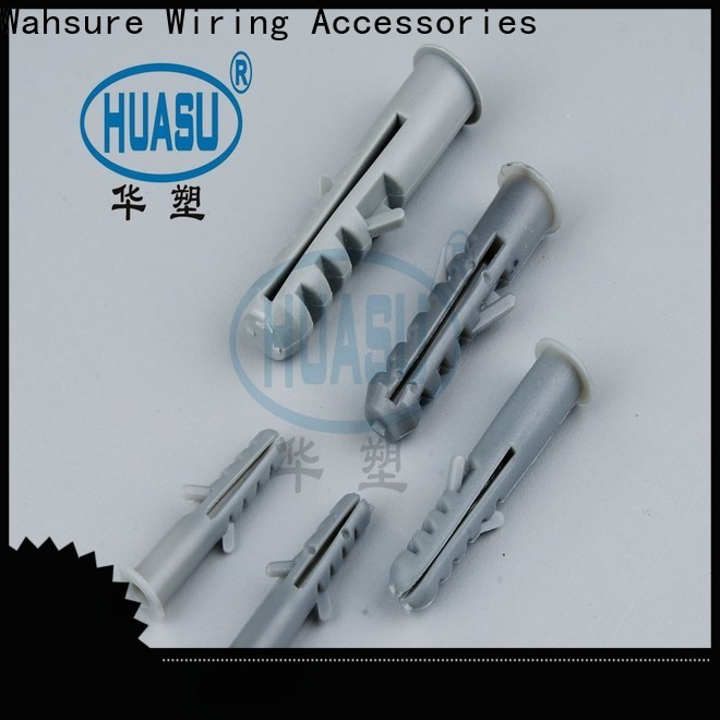 Wahsure plastic wall plugs supply for industry