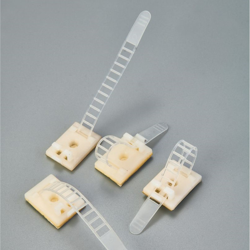 Plastic Self Adhesive Adjustable Cable Clamp Supply