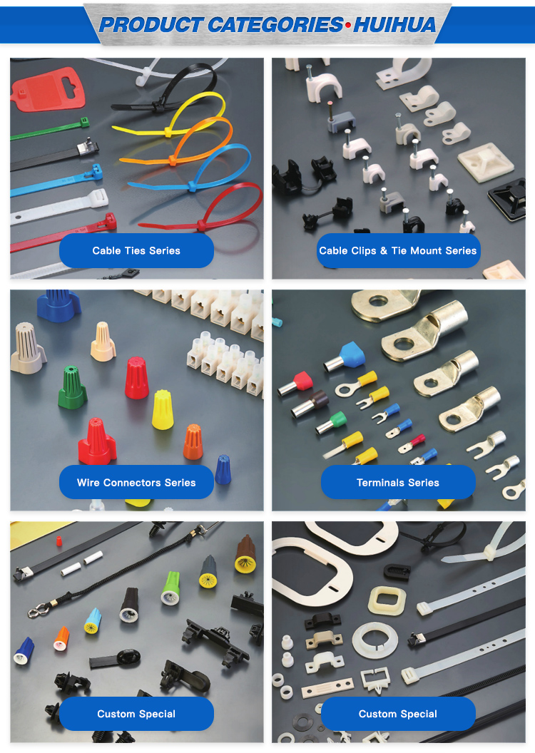 Manufacturers Wholesale Customizable Price Self-locking Push Mount Wire Plastic Tape Nylon 66 Material Soft Cable Loop Zip Ties